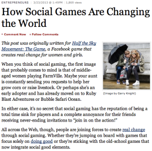 How Social Games Are Changing the World